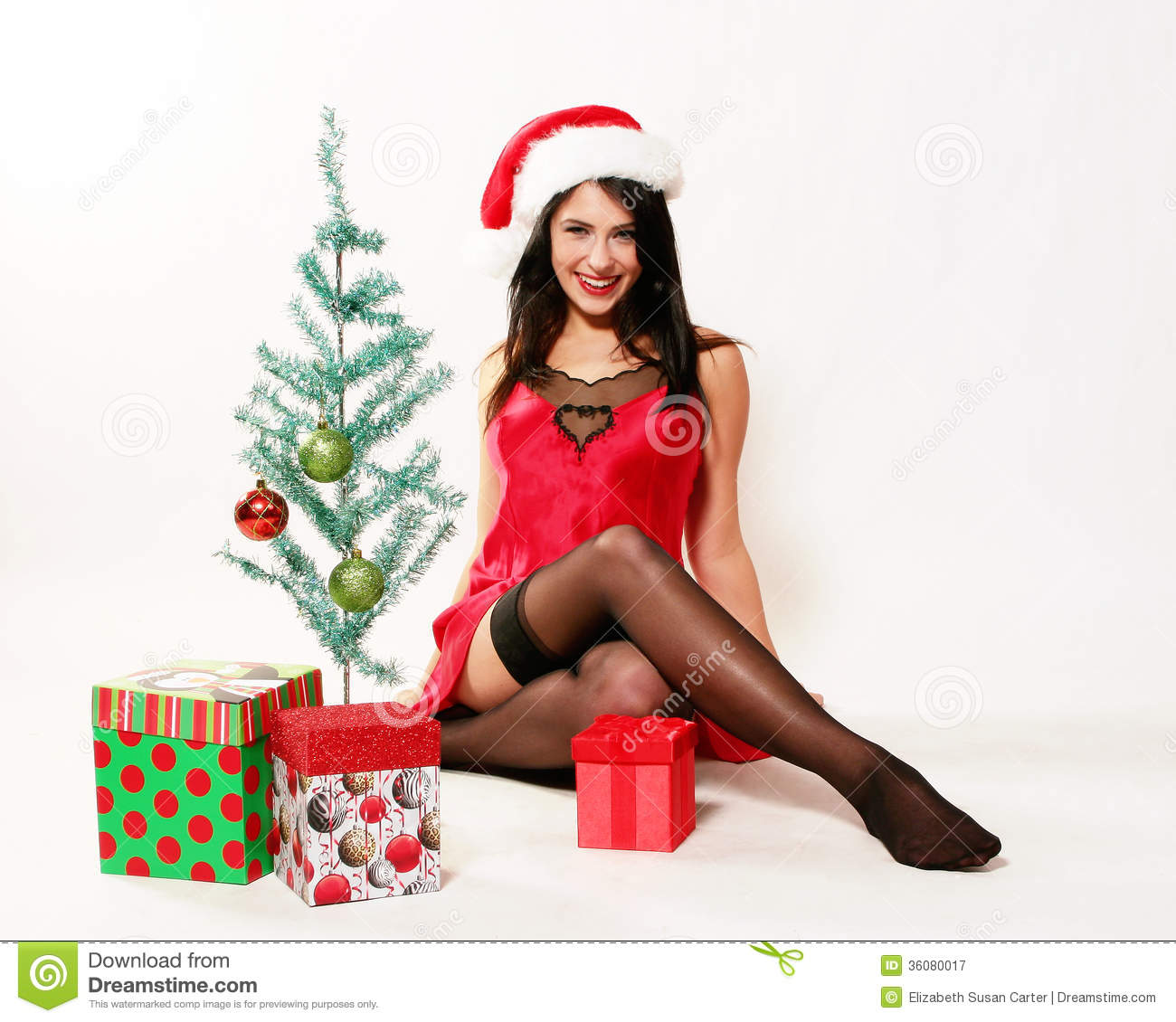 Sexy christmas girl royalty free stock photography image 36080017