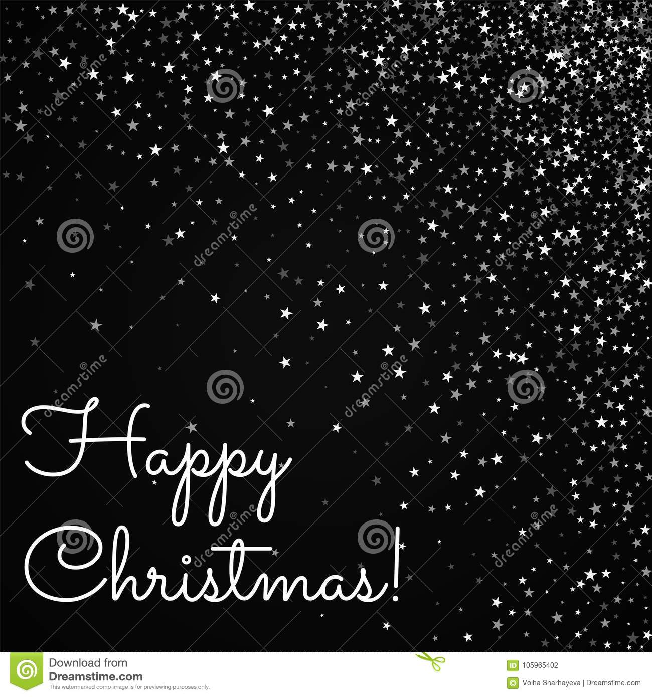 Happy Christmas Greeting Card Stock Vector Illustration Of