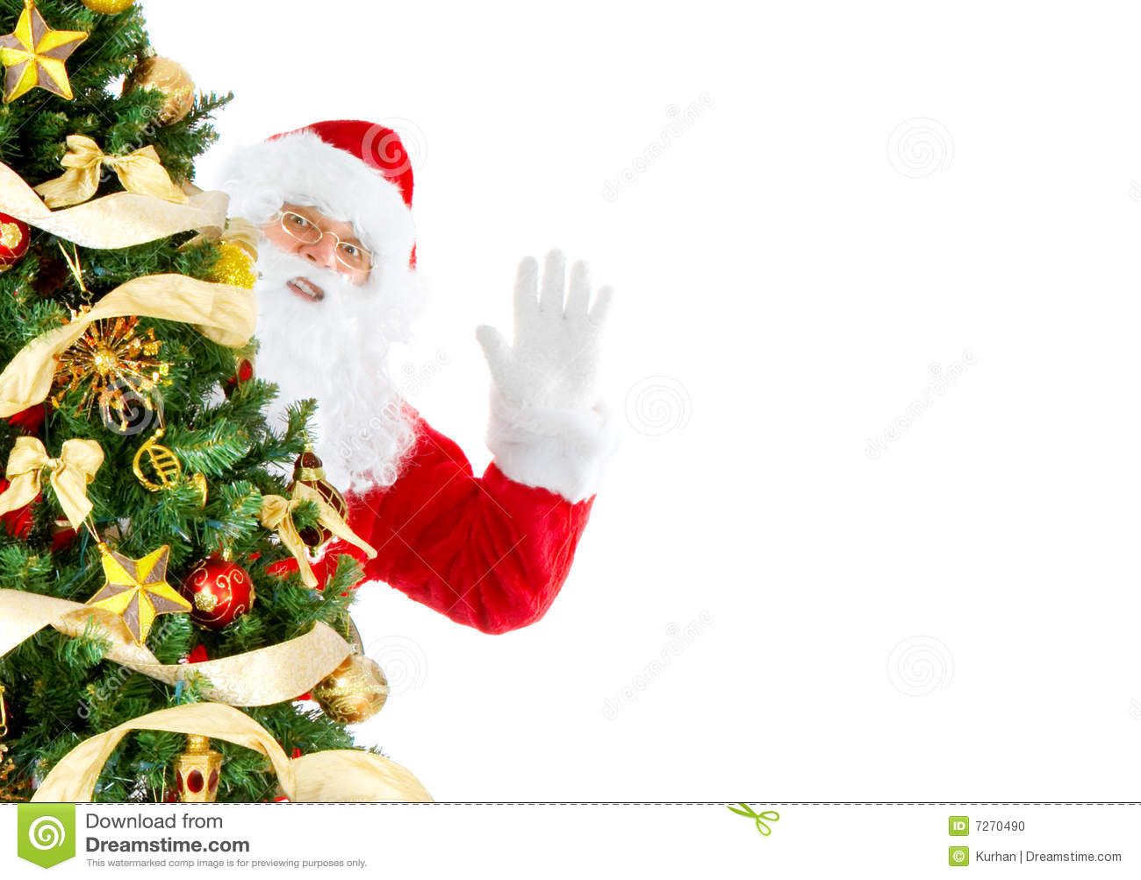 Happy Christmas Santa stock photo. Image of people, isolate - 7270490