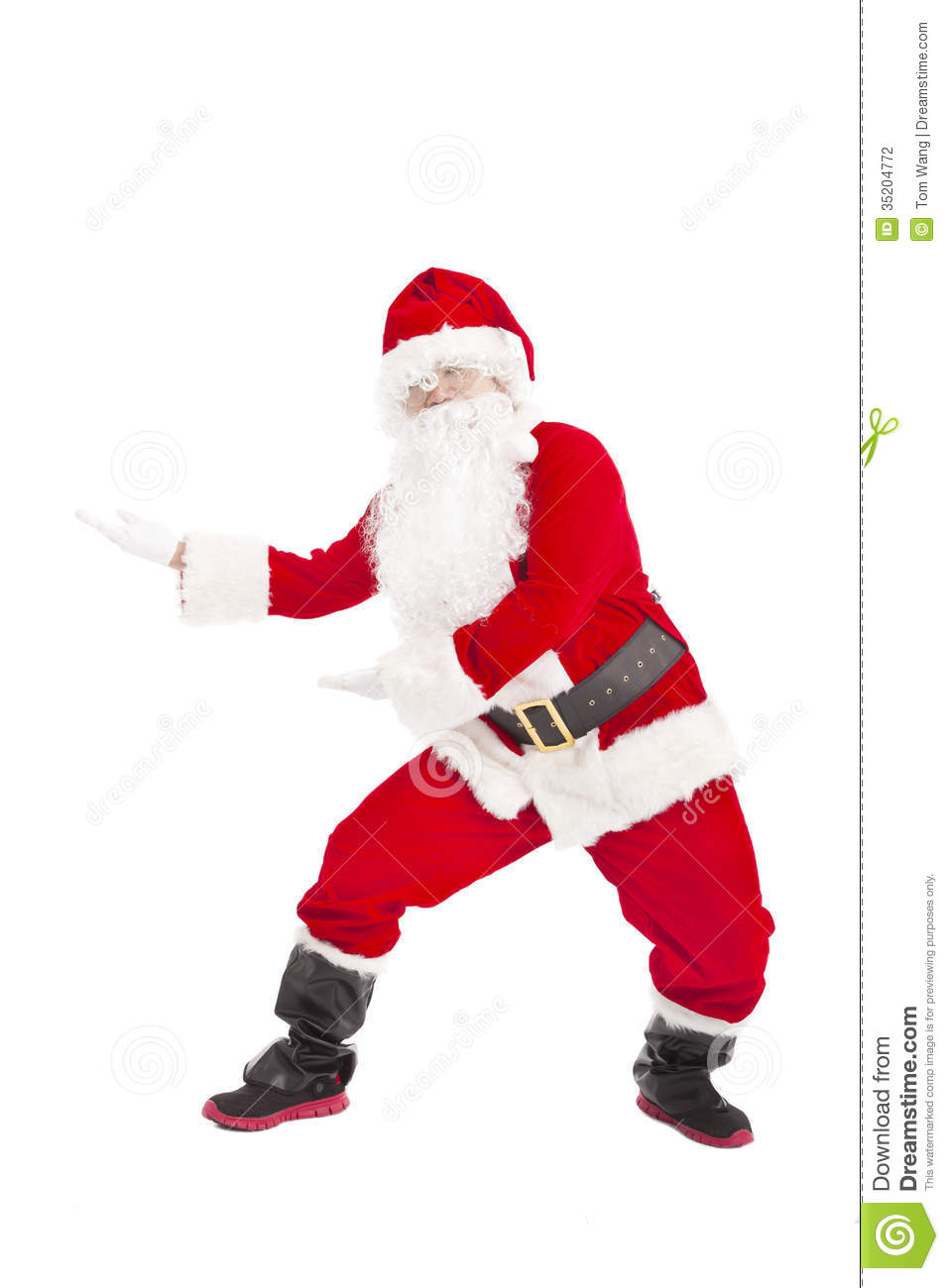 Christmas Dancing Santa.Happy Christmas Santa Claus Dancing Stock Photo Image Of