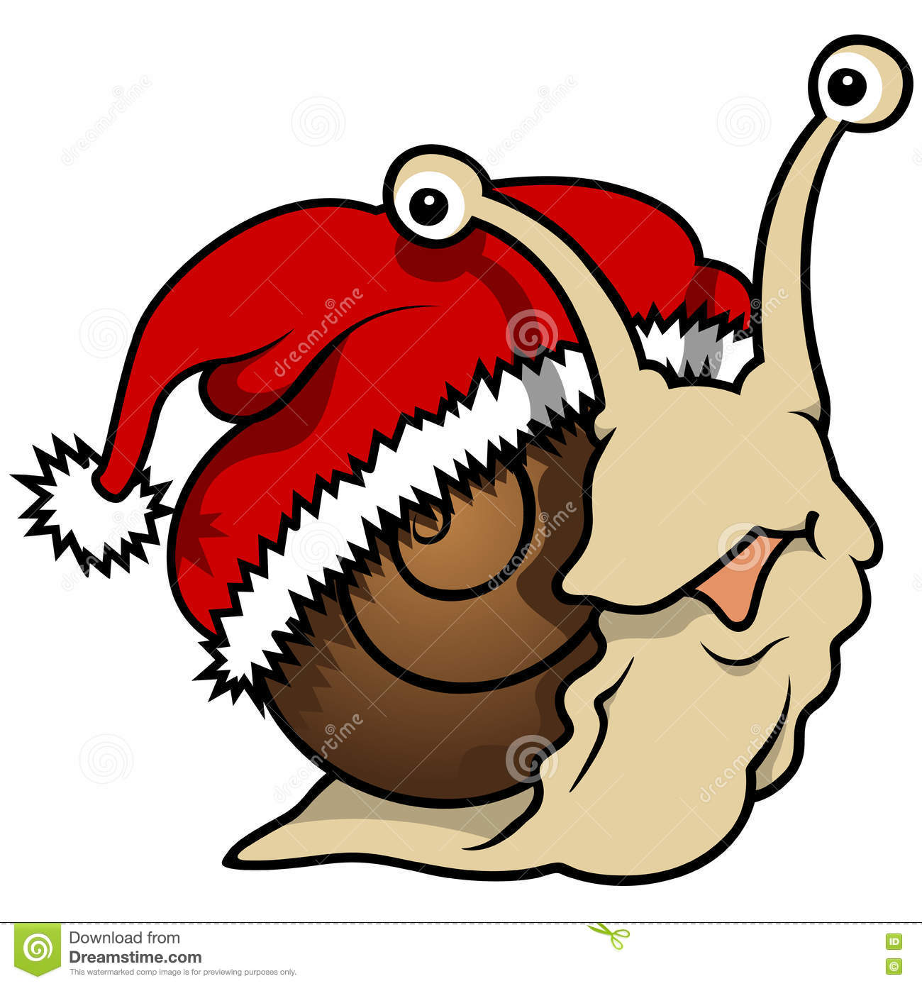 happy christmas snail stock vector image 80939568