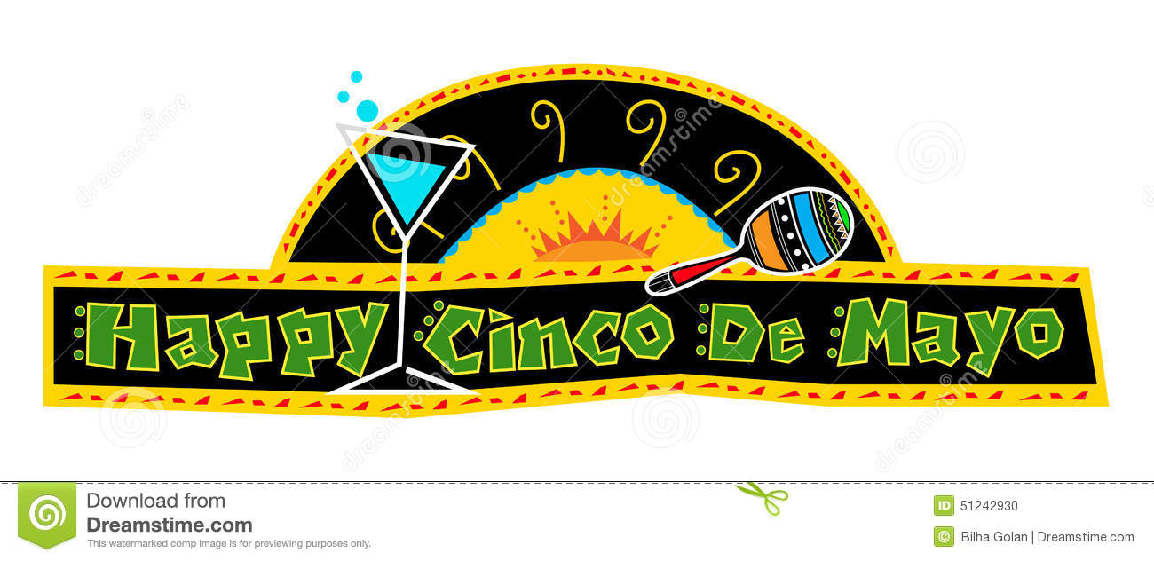 happy cinco de mayo banner stock vector illustration of maracas