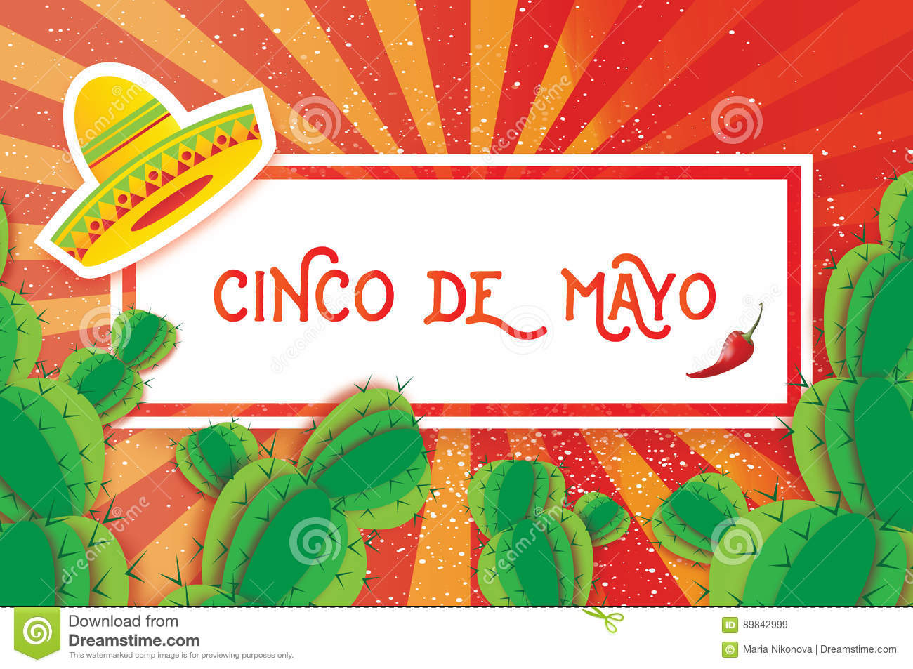 Happy cinco de mayo greeting card origami mexican sombrero hat download comp m4hsunfo