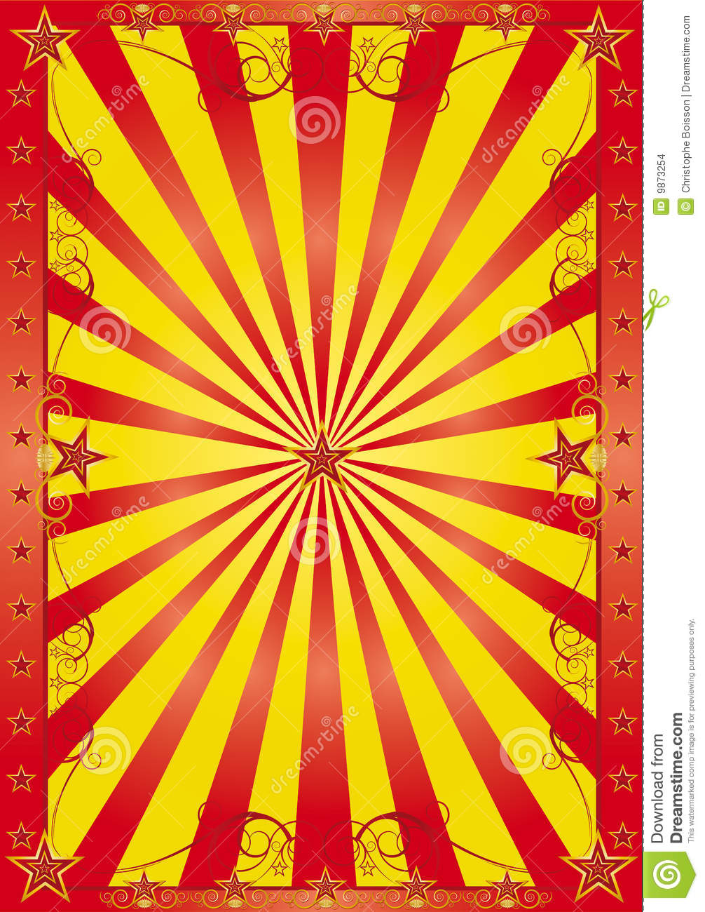 Happy Circus Background Stock Images Image 9873254