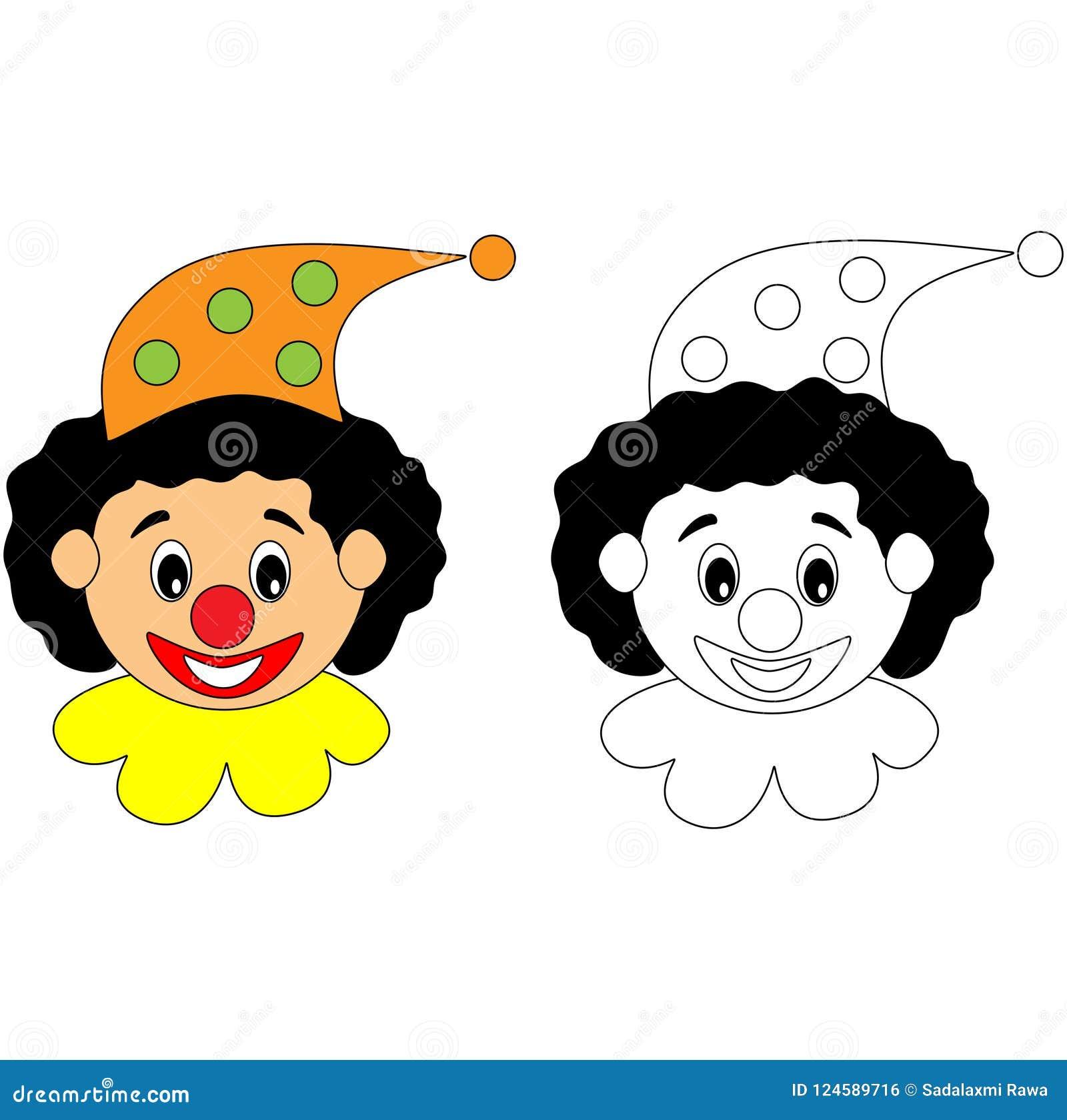 Happy circus clown colouring activity