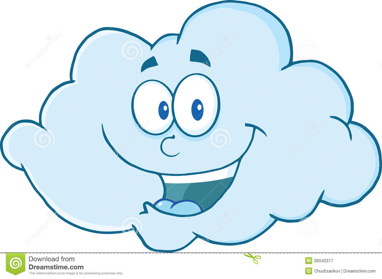 Happy Cloud Cartoon Character Royalty Free Stock Photography - Image ...