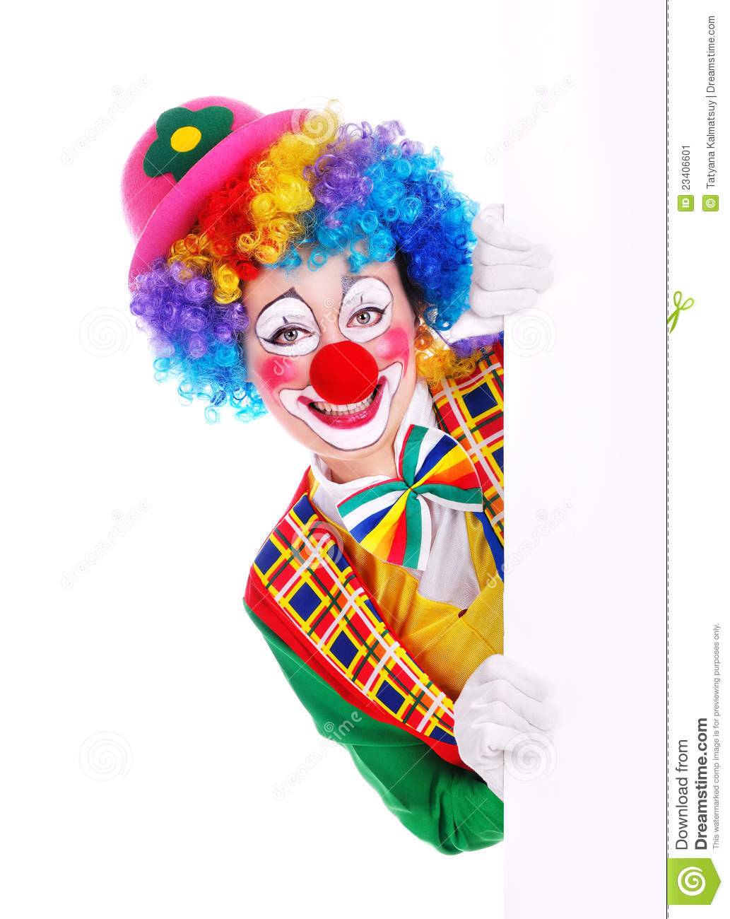 Happy clown with the blank board stock image image 23406601 for Face painting clowns for birthday parties