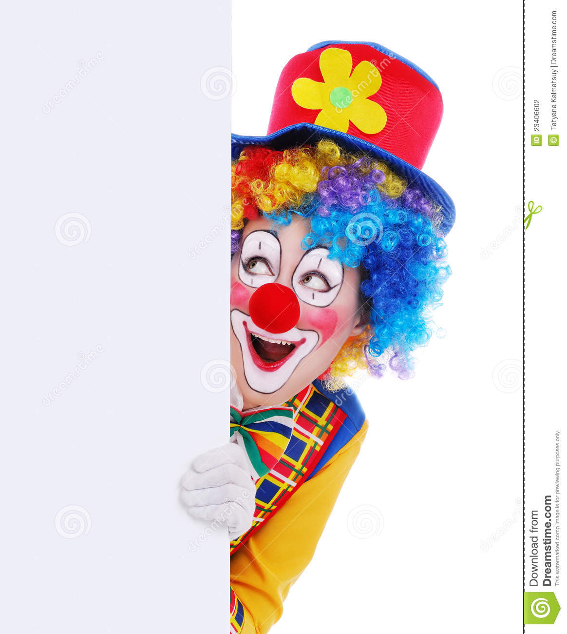 Happy Clown With The Blank Board Stock Photo - Image of ... Happy Clown Pictures