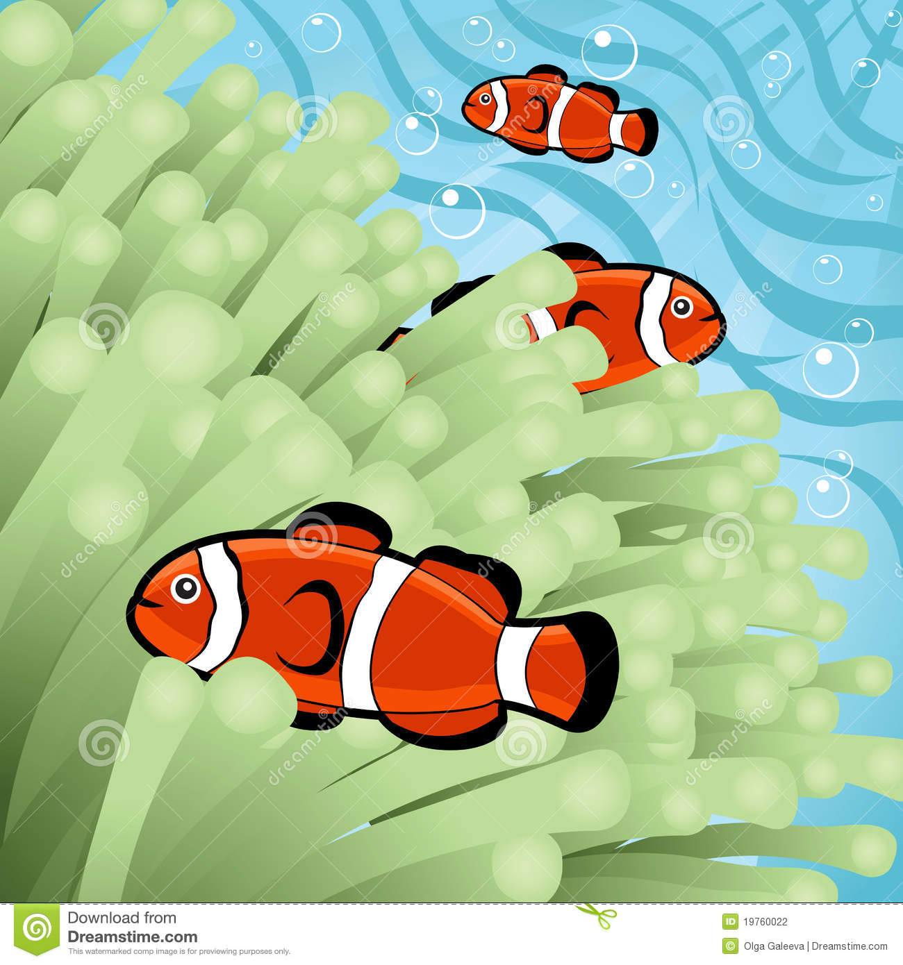 Happy Clownfishes Stock Photography - Image: 19760022