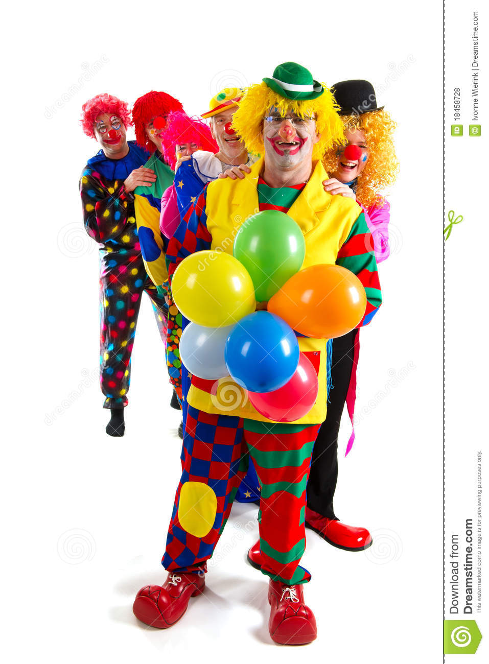 Happy Clowns Royalty Free Stock Photos - Image: 18458728
