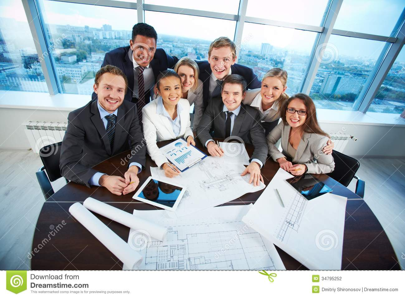 business at work royalty free stock photography happy co workers stock photo image of company formal 765