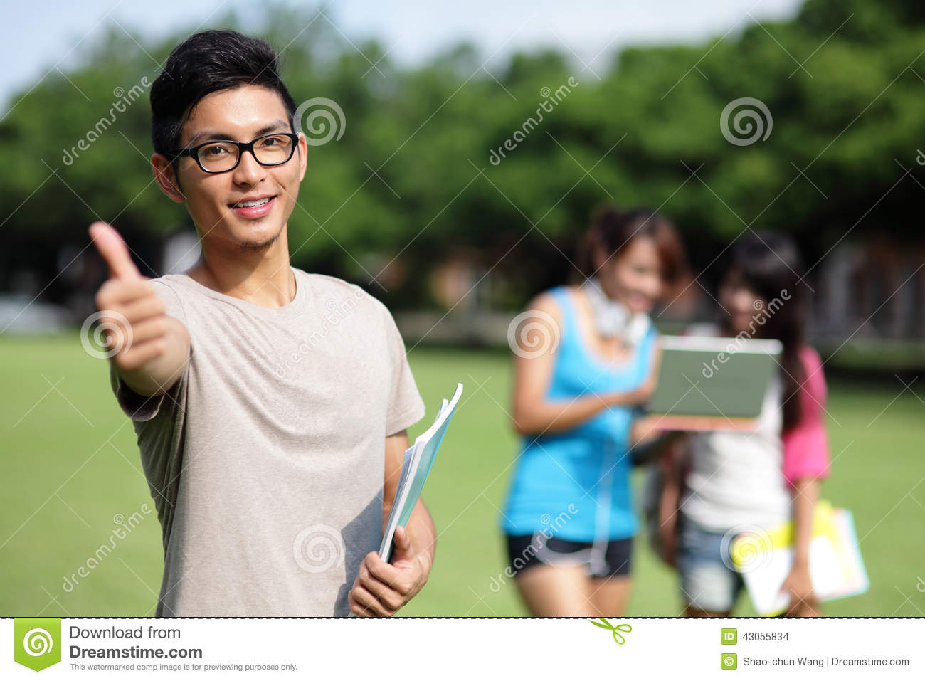 Happy College Students Stock Photo - Image: 43055834