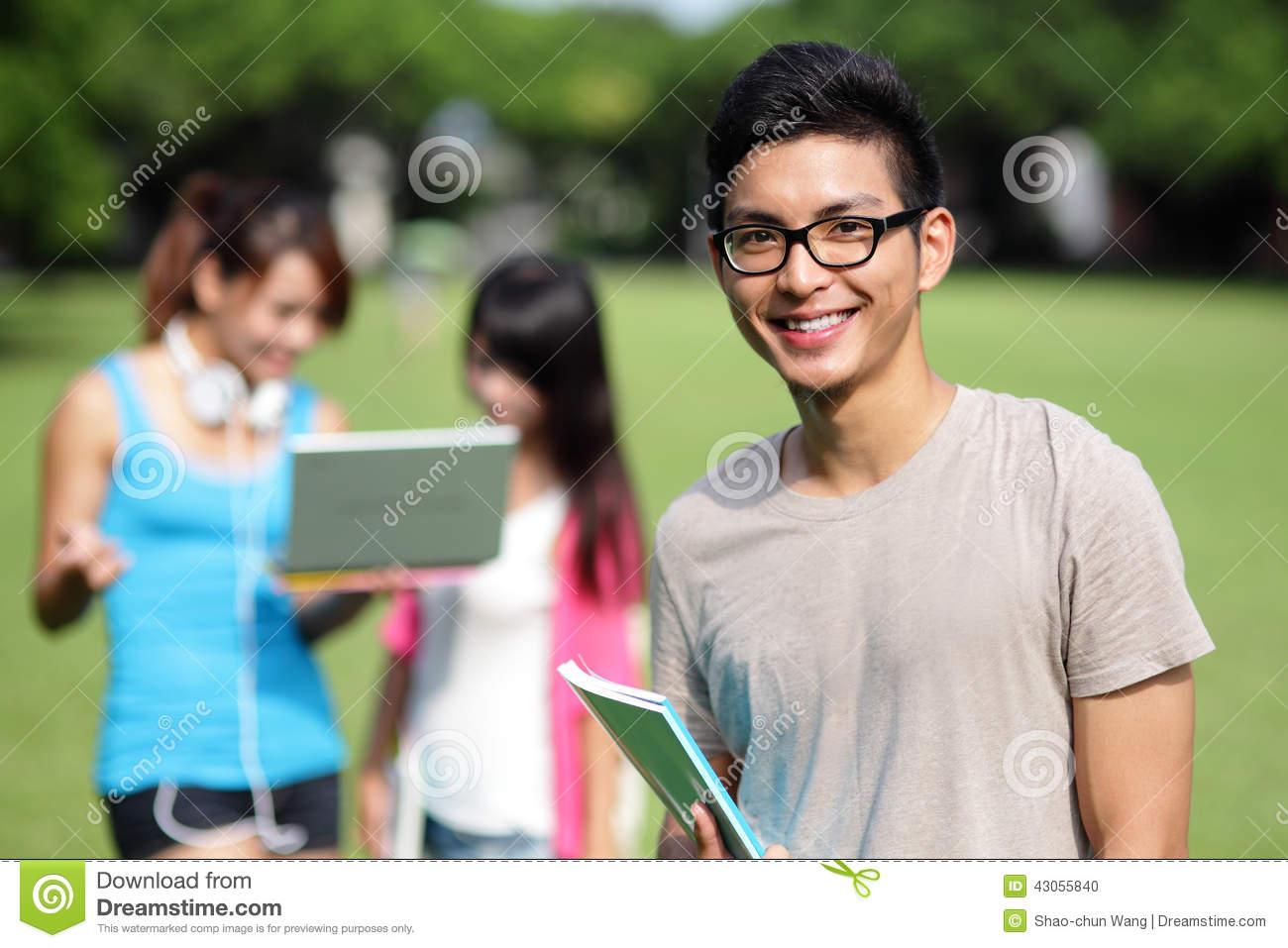 Happy College Students Stock Photo - Image: 43055840