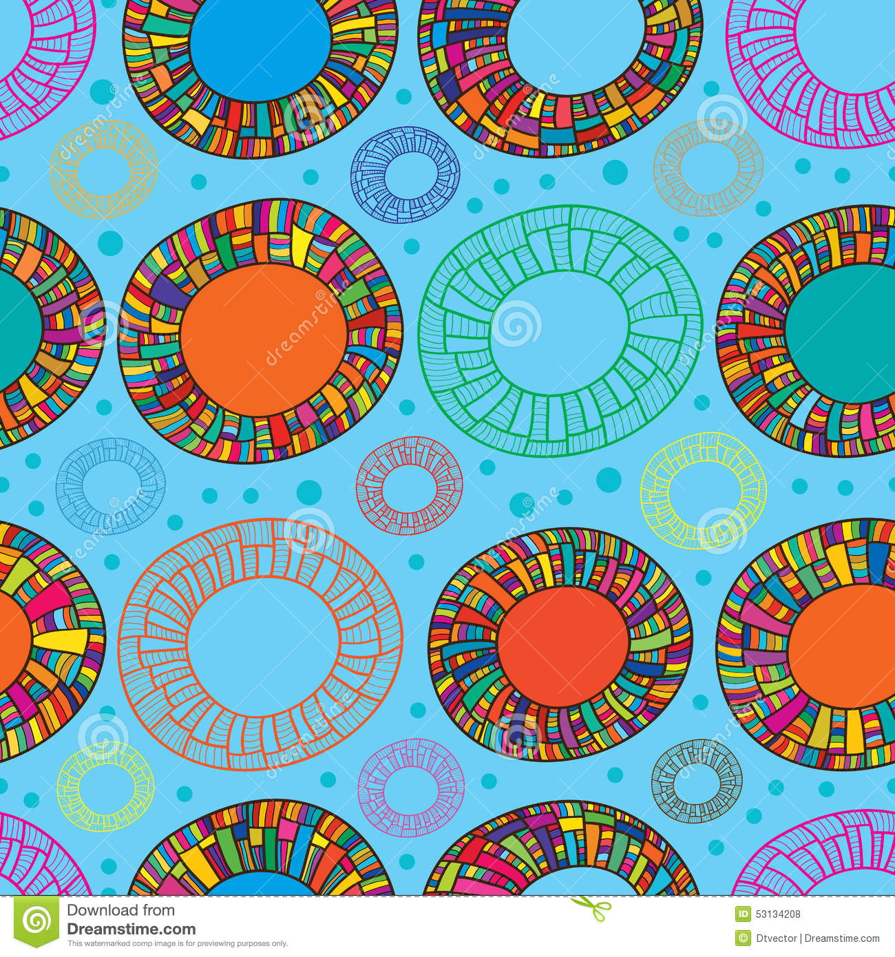 Happy Color happy color donut seamless pattern stock vector - image: 53134208