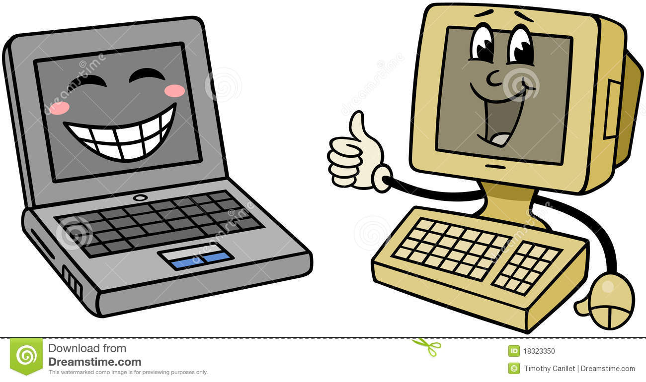 Happy Computers Stock Vector Illustration Of Digital 18323350 Repair A Circuit Board Used In Pc Computer Royalty Free Clip Photo
