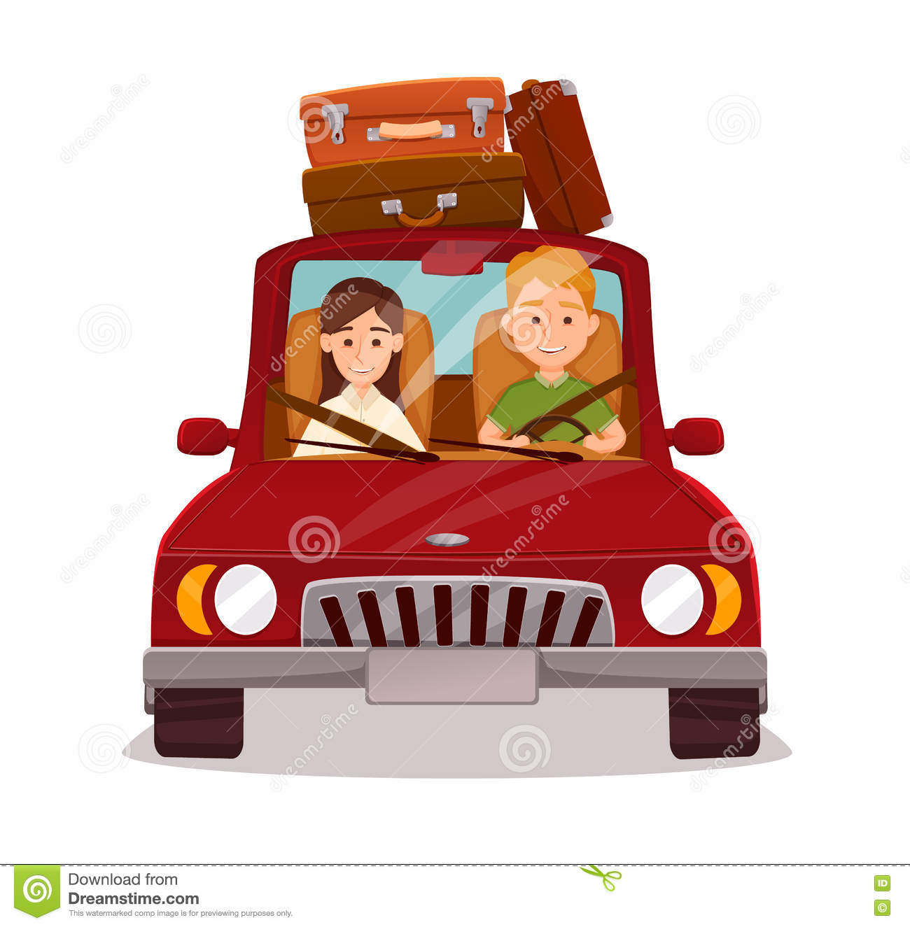 Car People Happy Couple Driving Road Trip Stock Illustrations 53 Vectors Clipart