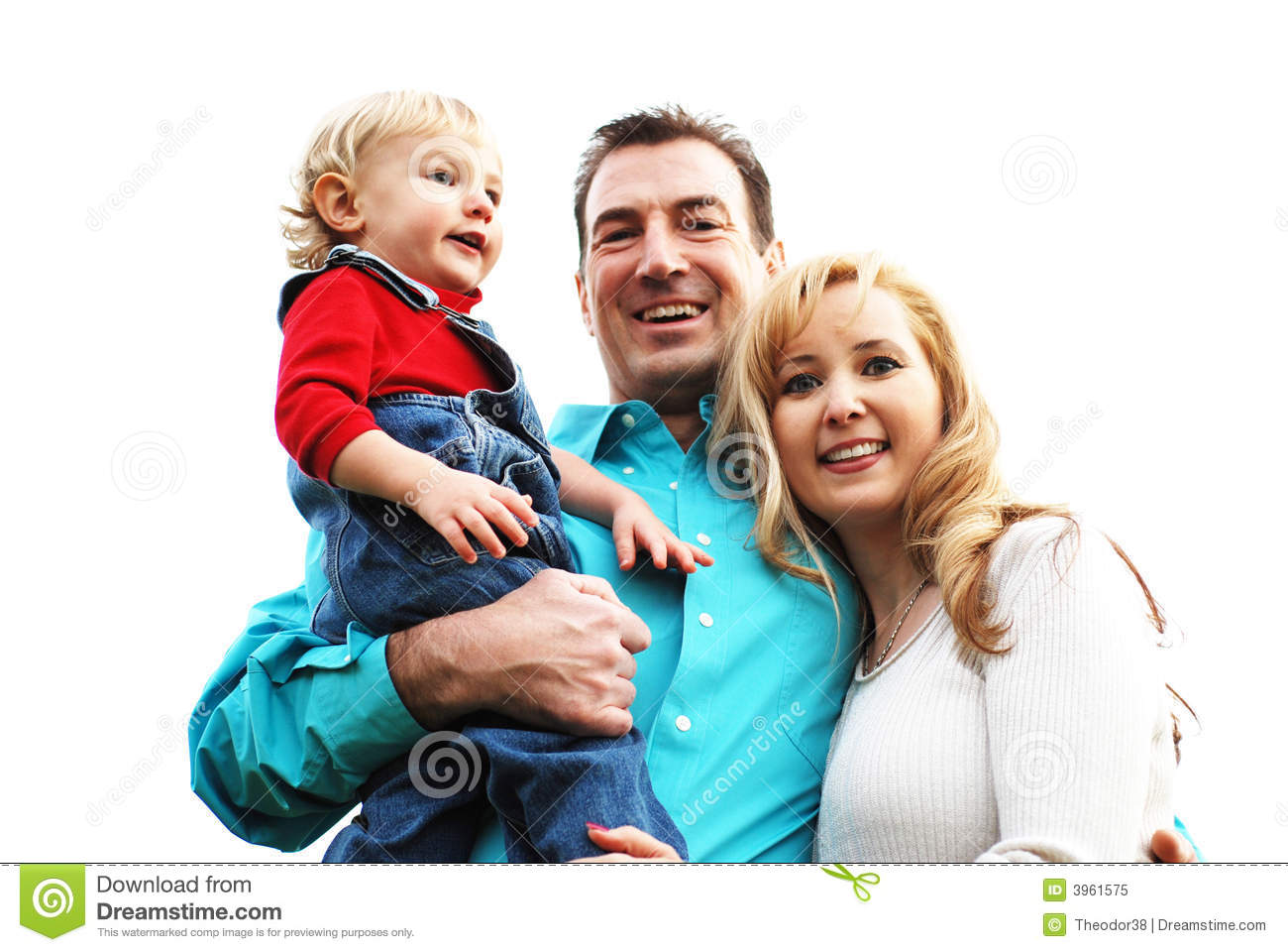 Happy couple with a child