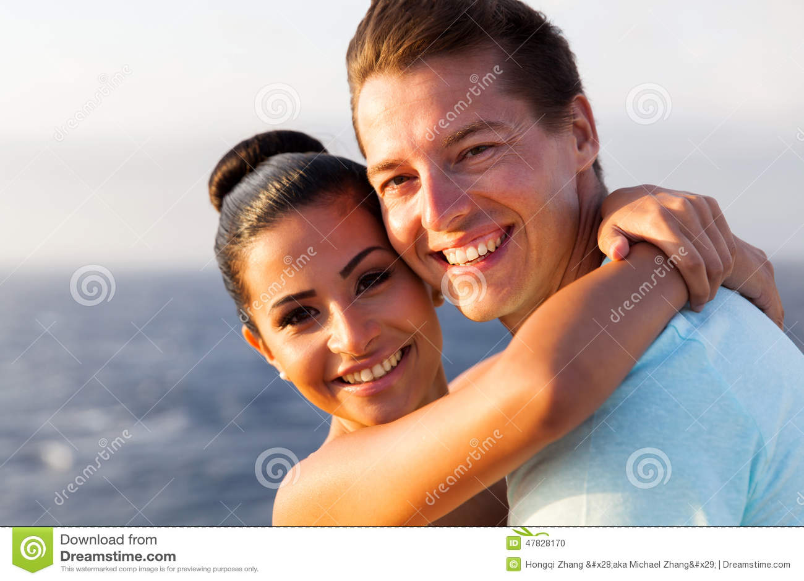 Happy couple cruise