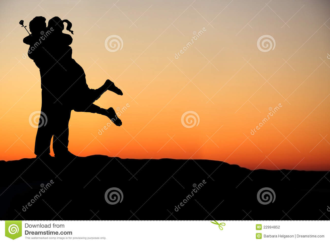 happy couple embrace silhouette stock photography