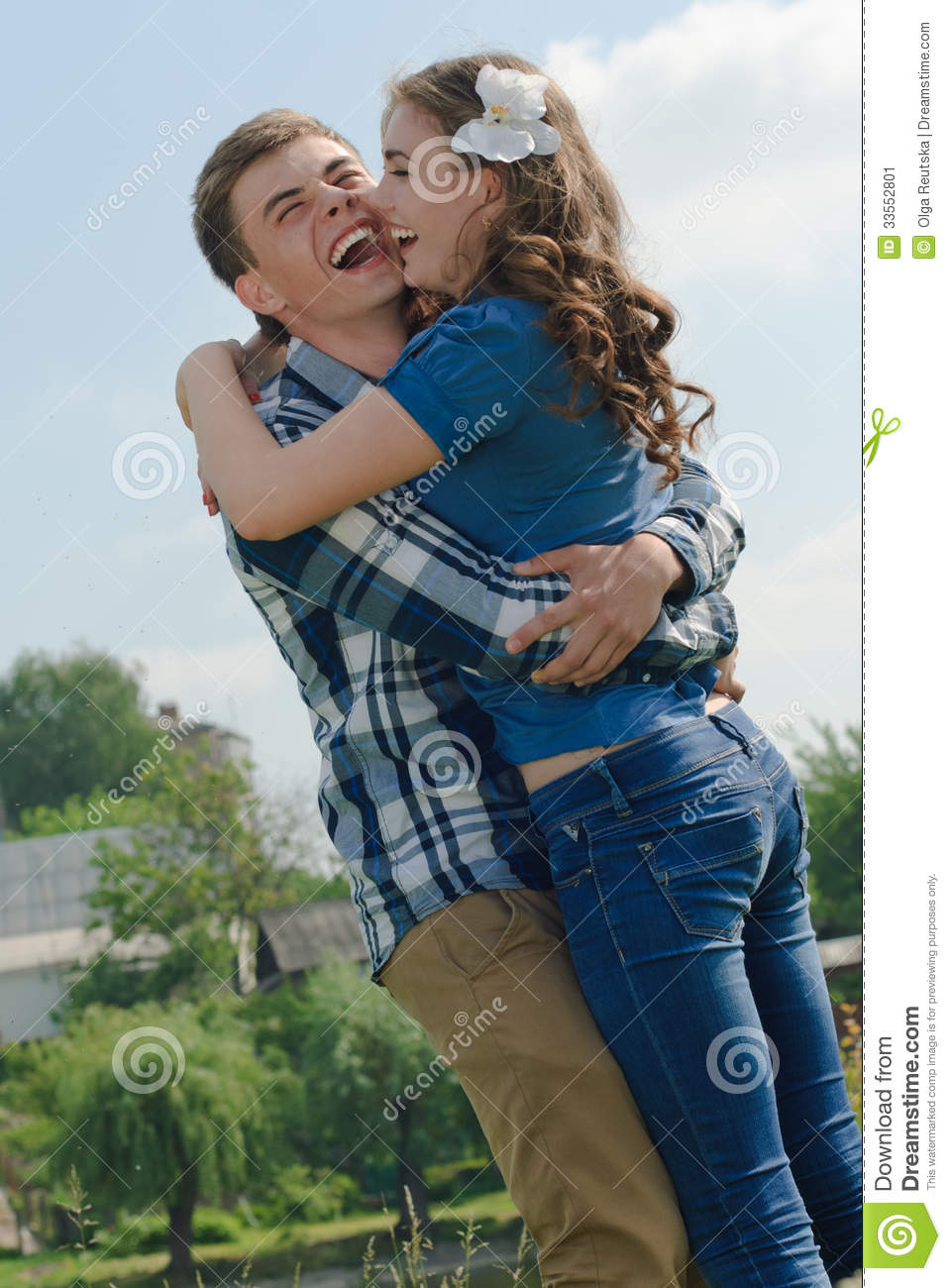 Couple On The Background Of Sky Stock Image ...