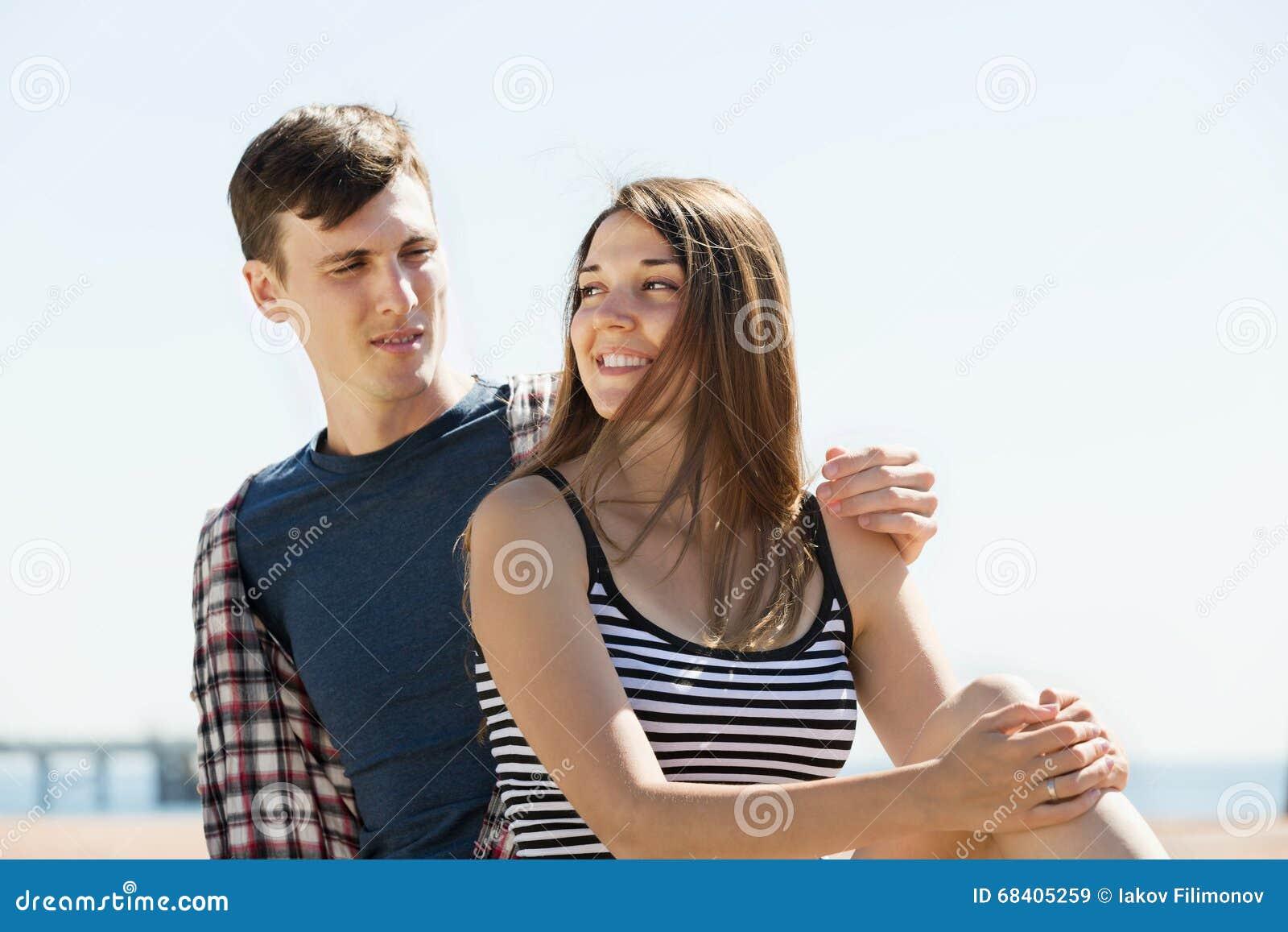 Happy couple having romantic date