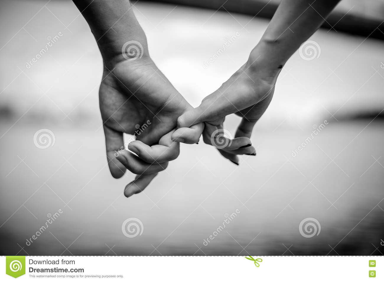 Happy couple holding hands stock image. Image of happy ...