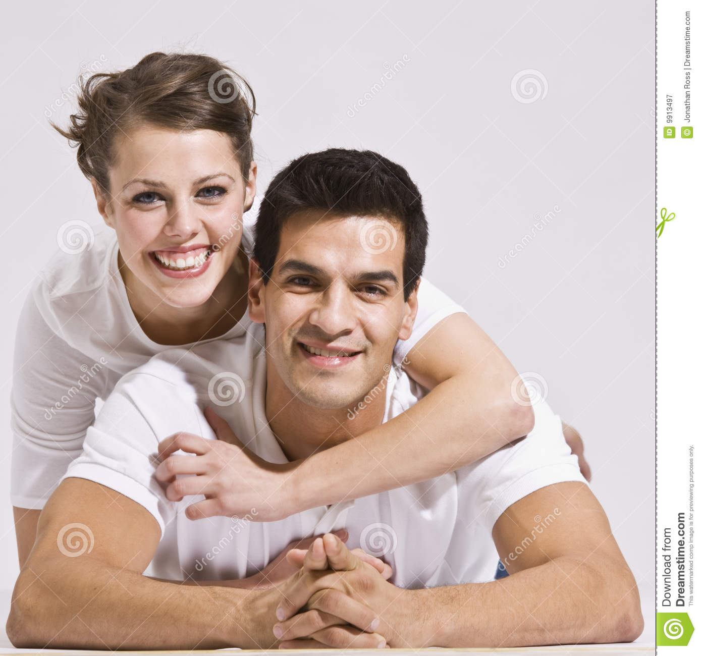Happy Couple Hugging Royalty Free Stock Photography