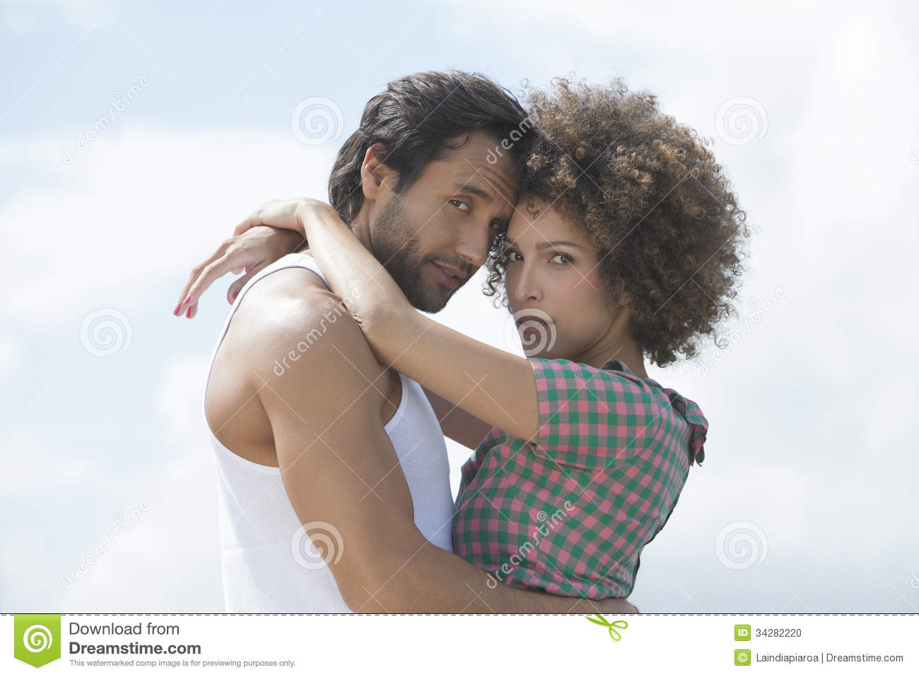 happy couple hugging each other stock photo image 34282220