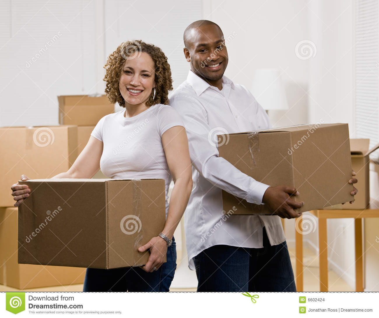 Happy couple moving into new home stock photo image 6602424 When is the best time to move house