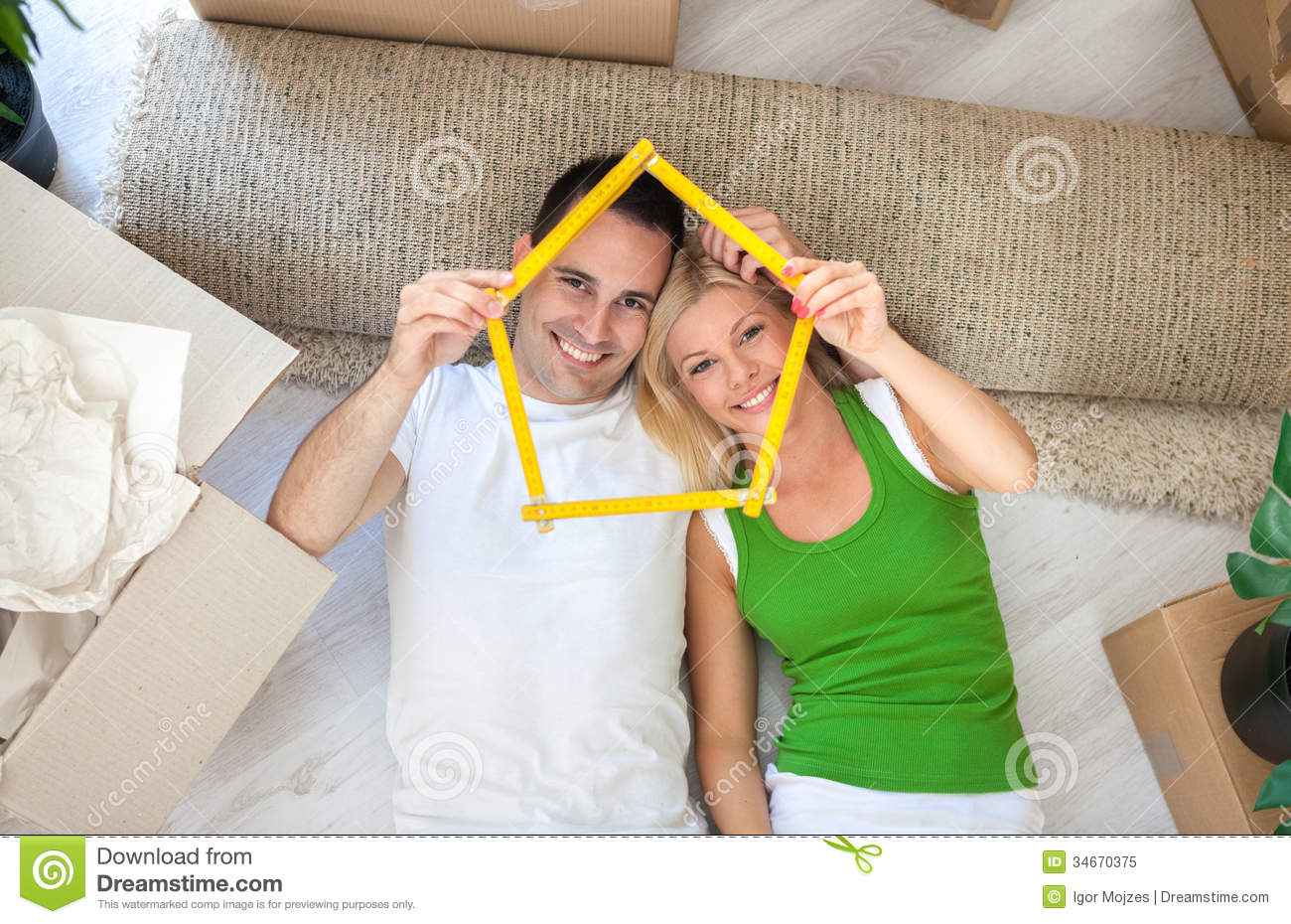 Happy Couple In New Home Royalty Free Stock Photo Image