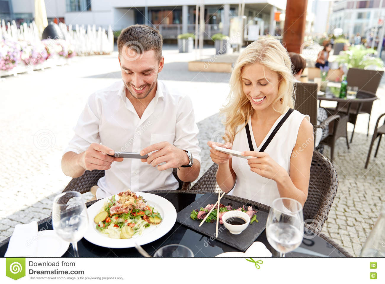 dining dating food love