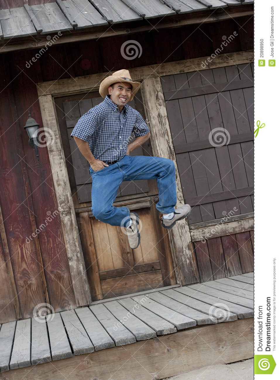 Happy Cowboy Stock Photo Image Of Rustic Male Dance