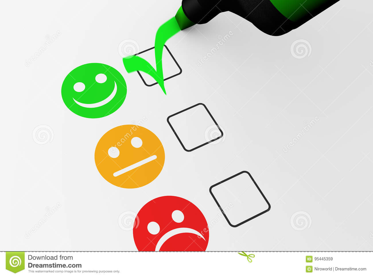 Happy Customer Feedback Business Quality Stock Illustration