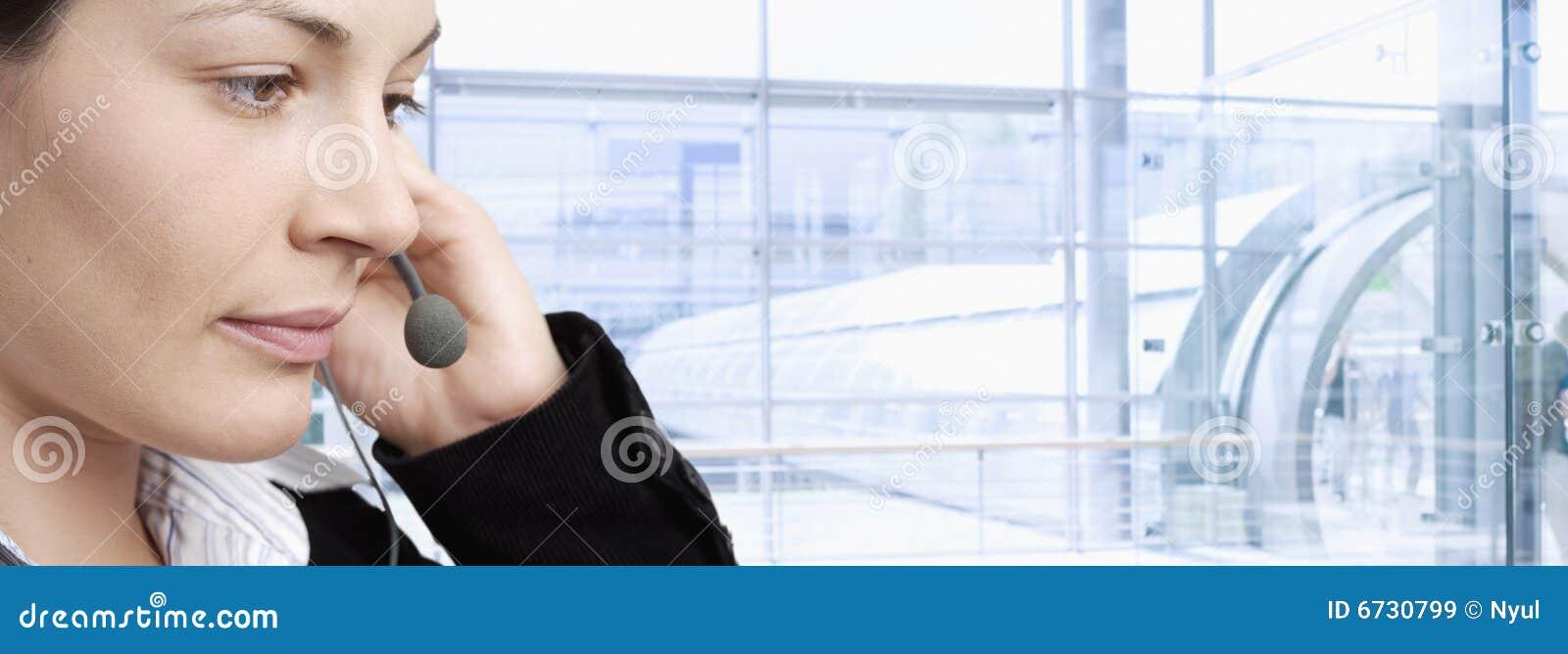 Happy Customer Service Representative Royalty Free Stock Images