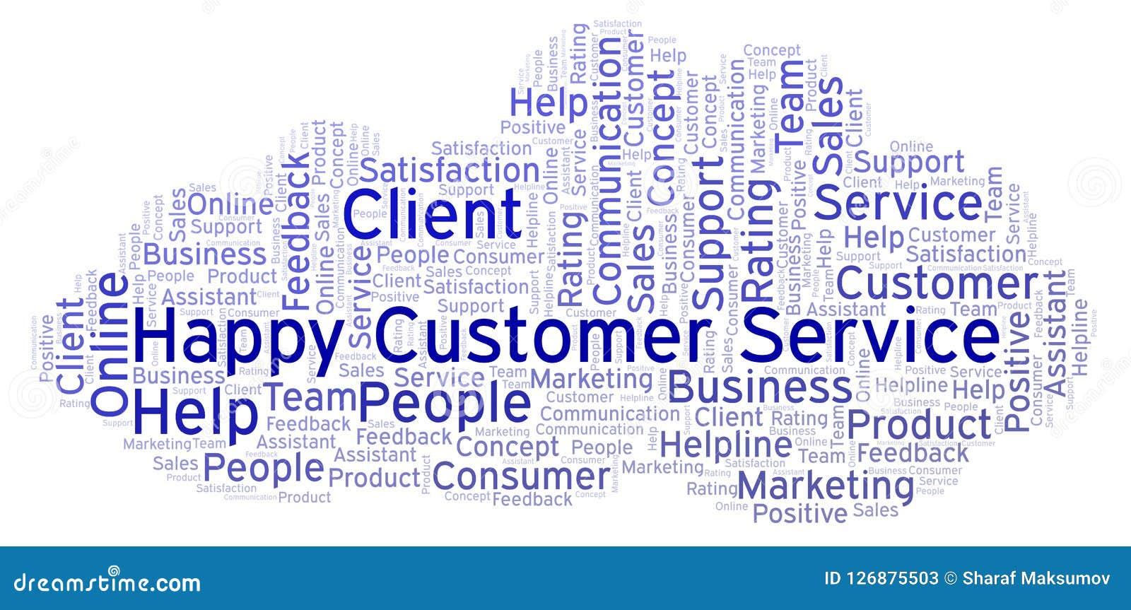 Happy Customer Service Word Cloud  Stock Illustration