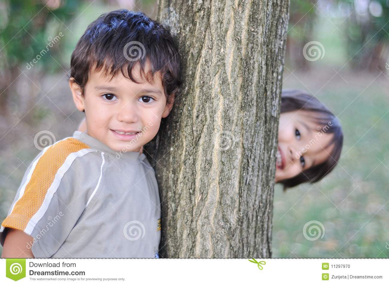 happy cute children in the park stock photo - image of outdoors