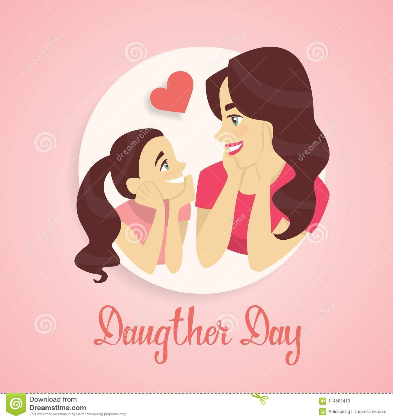 Happy daughters day stock vector illustration of illustration download happy daughters day stock vector illustration of illustration 114581410 m4hsunfo