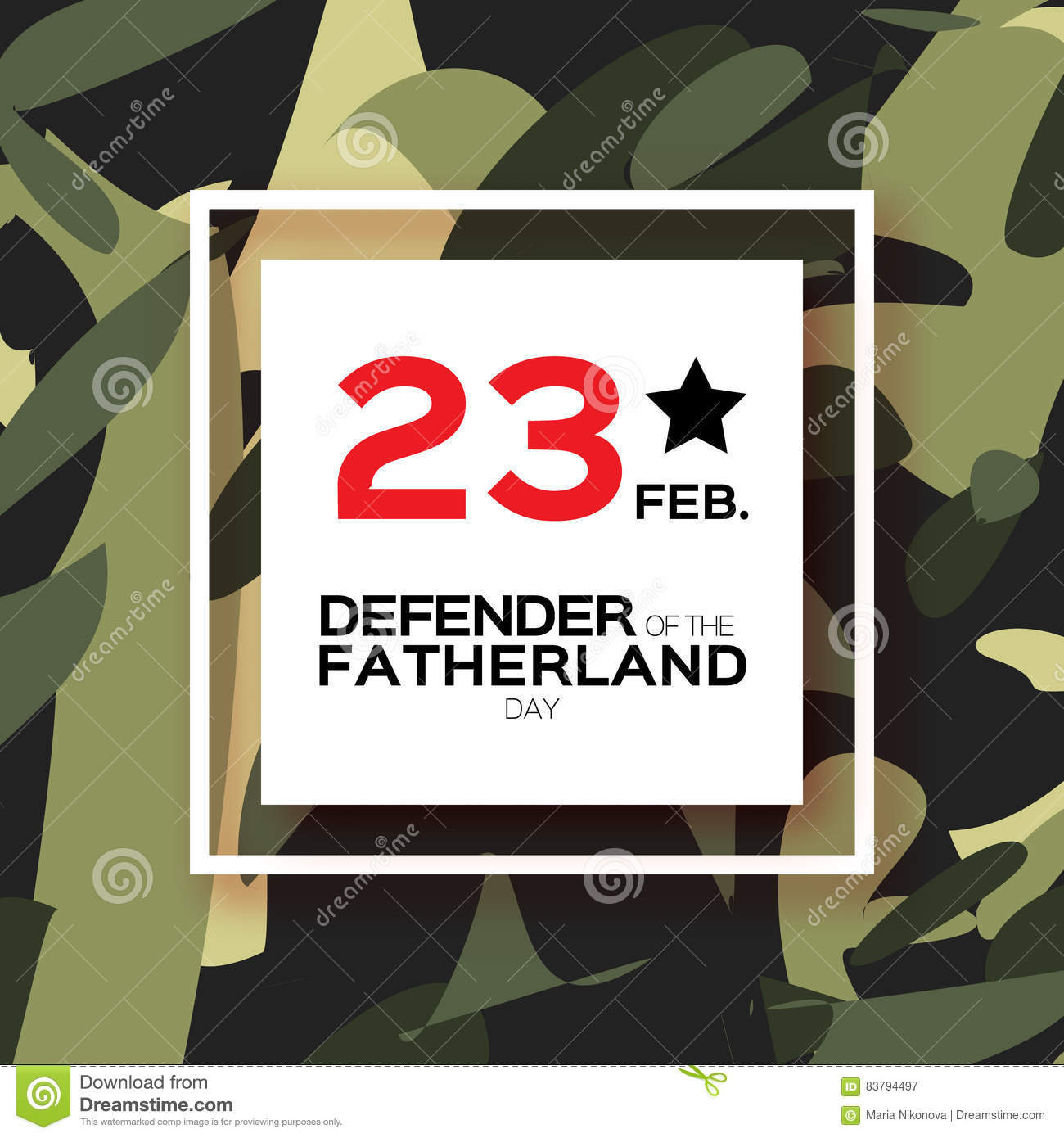 Happy Defender Of The Fatherland Day 23 February Stock Vector