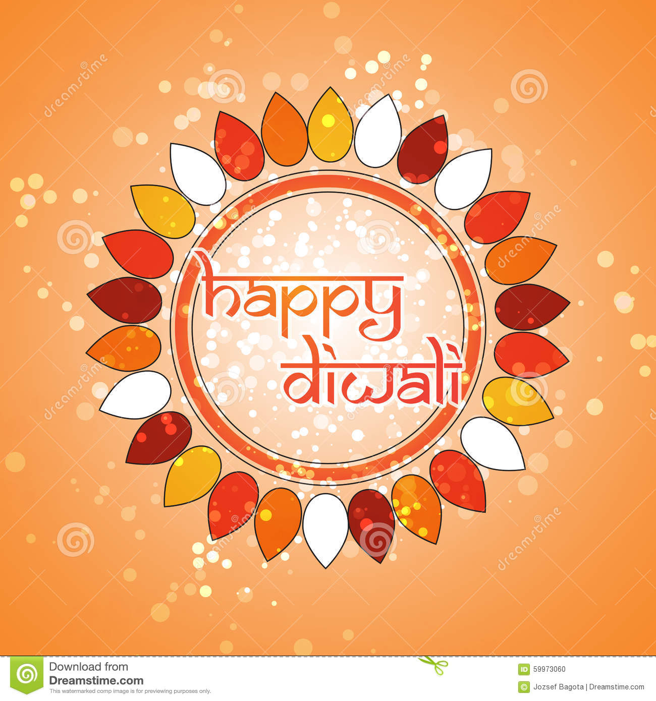 Happy Diwali Card Vector Background Illustration Stock