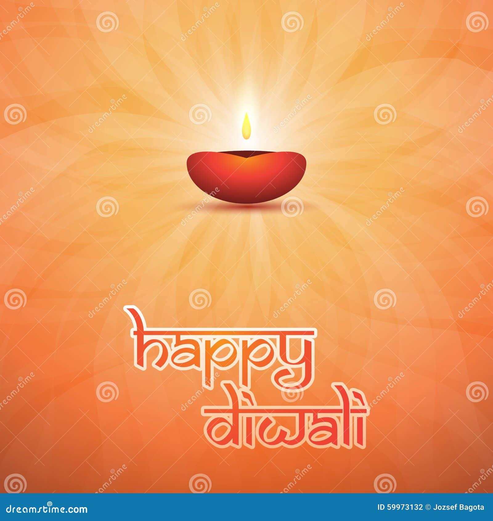 Happy Diwali Card Vector Background Illustration Stock Vector