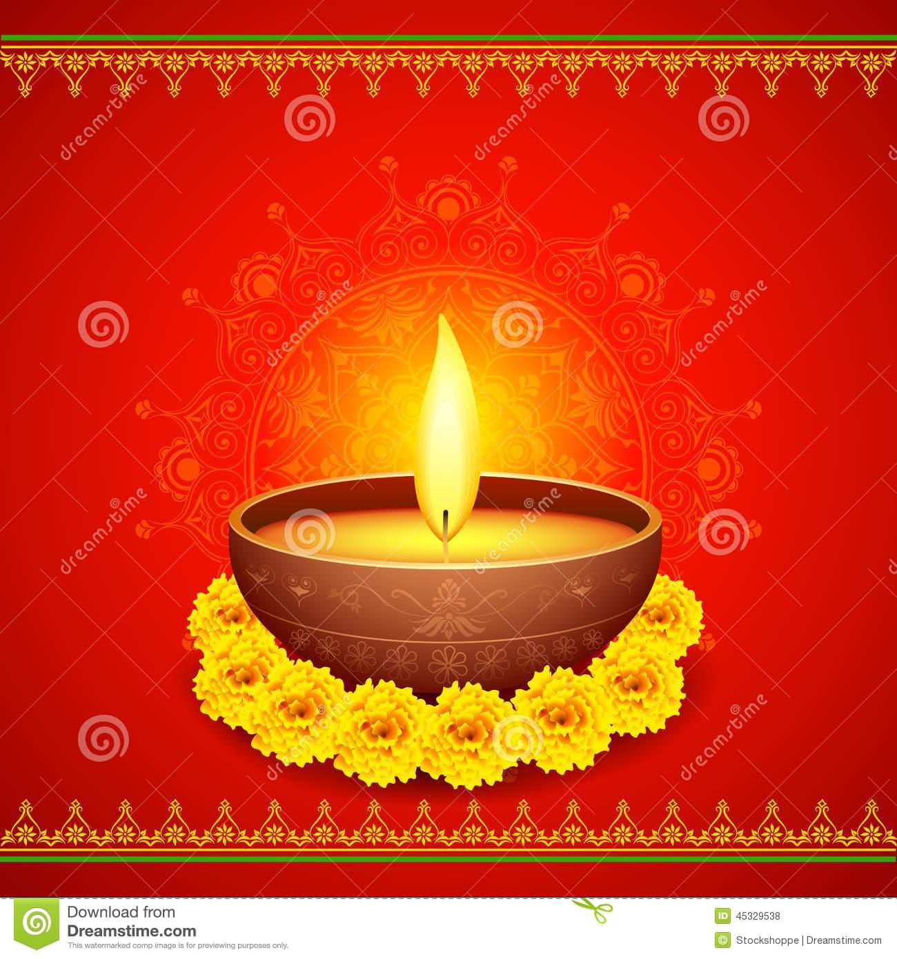 Happy Diwali Diya stock vector. Illustration of deepavali ...