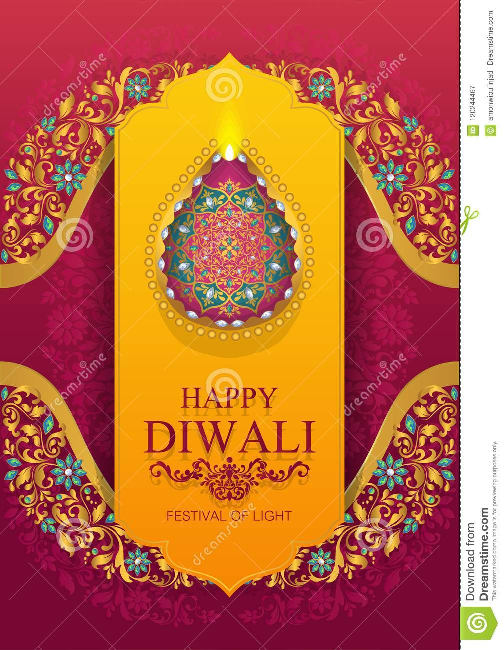 Happy diwali festival card stock vector illustration of editable happy diwali festival card m4hsunfo