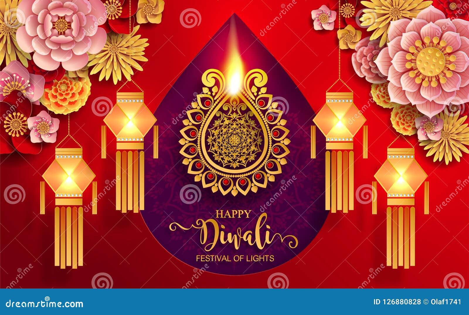 Happy Diwali festival card
