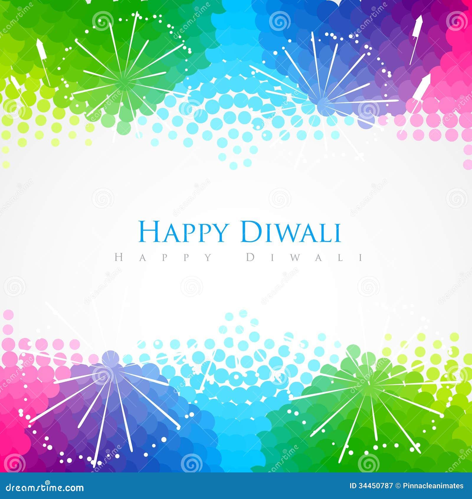 Happy Diwali Greeting Stock Vector Illustration Of Decoration
