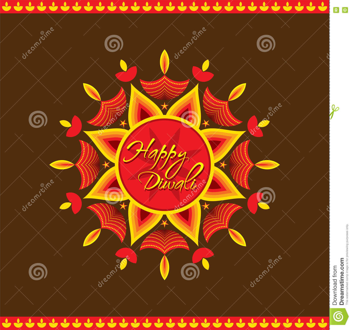 Happy Diwali Greeting Card Design Stock Vector Illustration Of