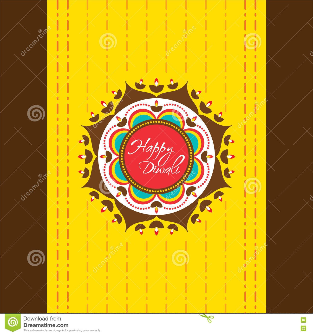 Happy diwali greeting card design stock vector illustration of happy diwali greeting card design kristyandbryce Images