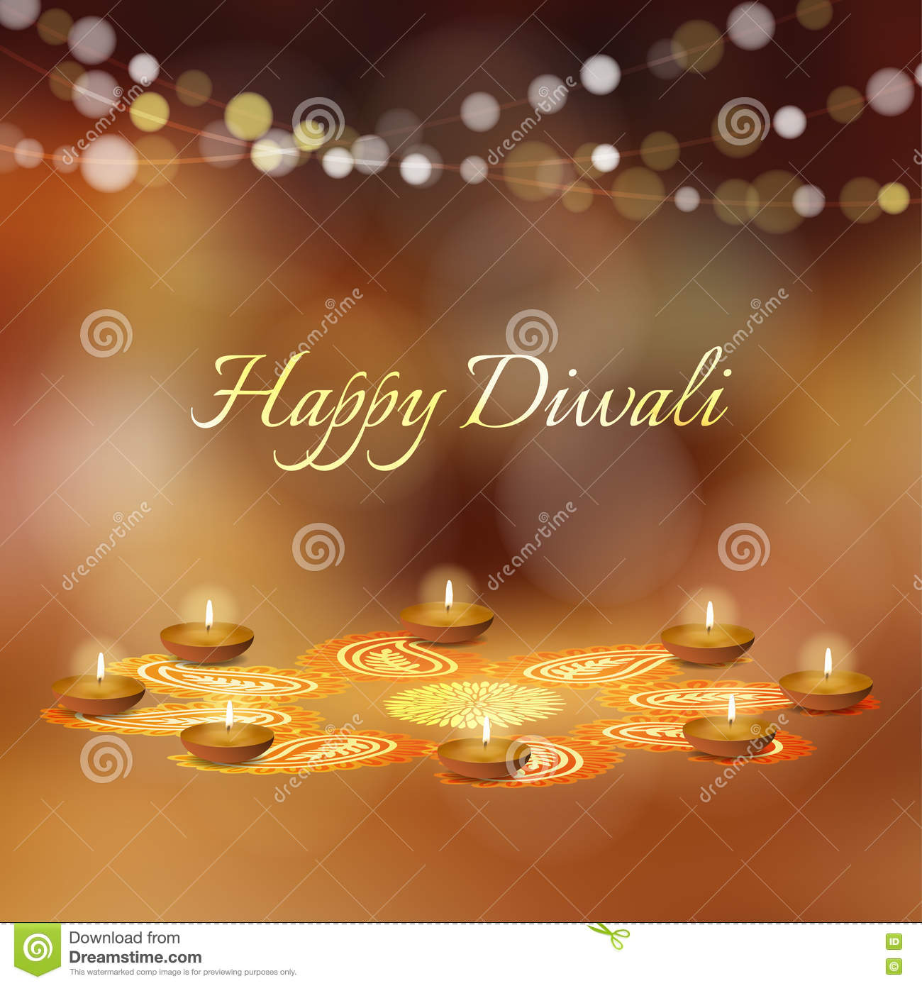 Diya Oil Lamps Diwali And Indian Festival Of Lights Stock Image