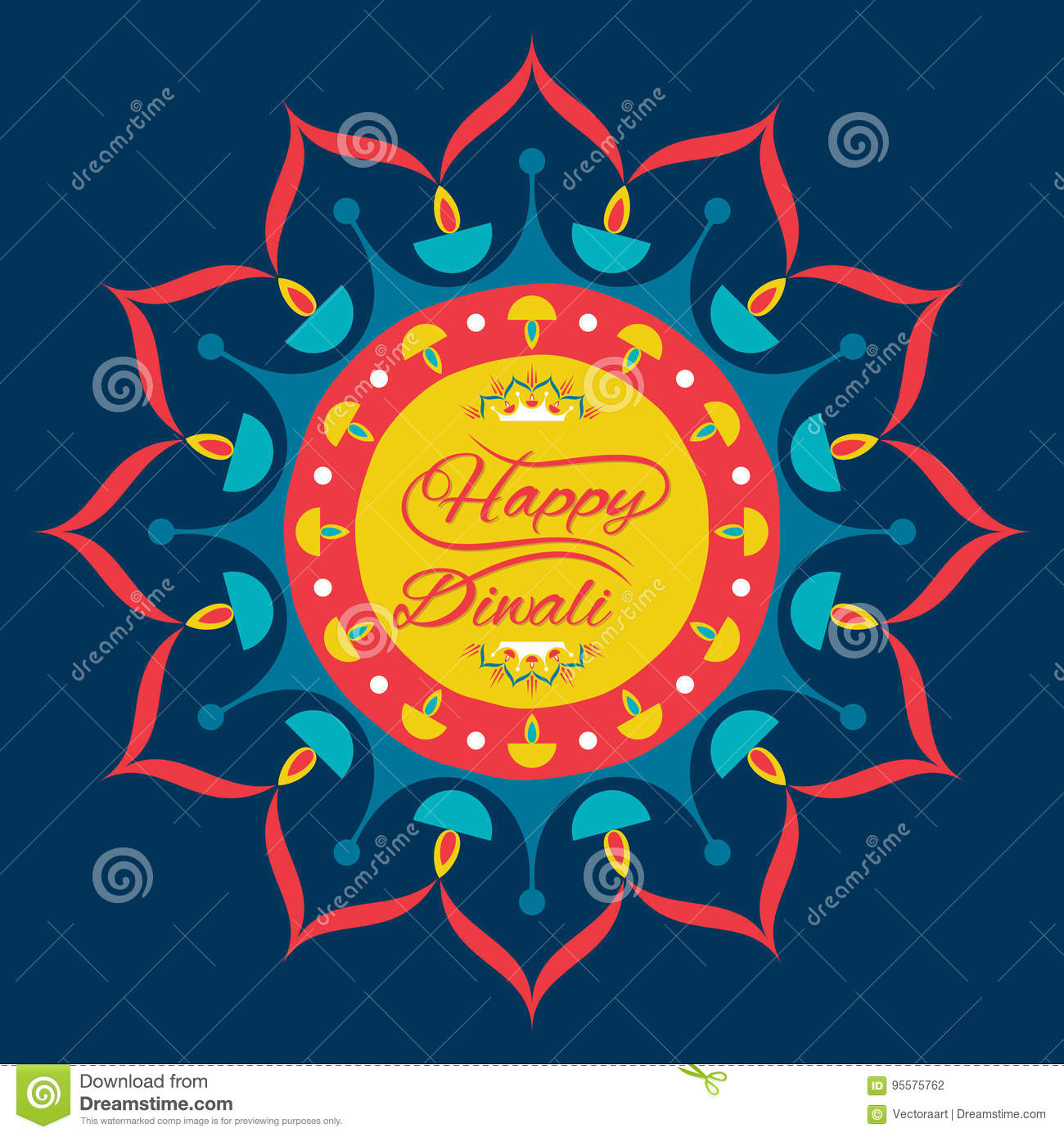 Happy Diwali Greeting Design Stock Vector Illustration Of Banner