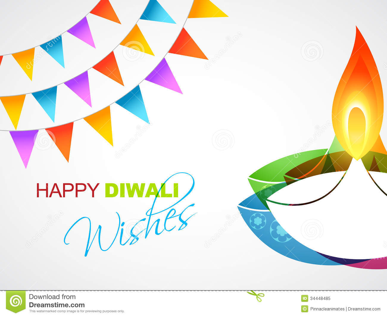 Happy diwali greeting stock vector illustration of lamp 34448485 happy diwali greeting m4hsunfo