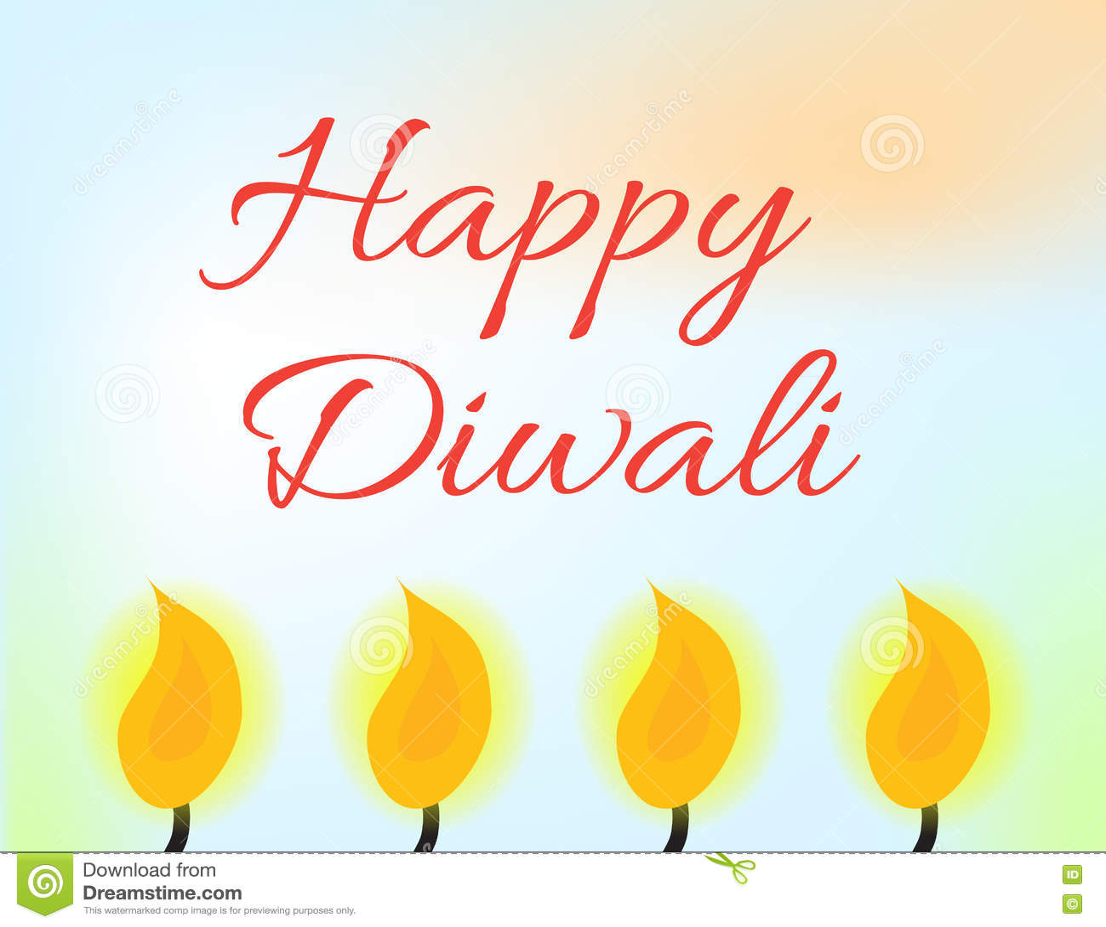 Happy Diwali Indian Festival Of Lights Diwali Greeting Card
